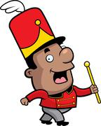 Marching Band Conductor Stock Illustration