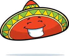 Sombrero Smiling Stock Illustration