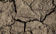 Stock Photo of close-up of arid cracked earth