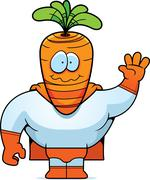 Carrot Superhero - stock illustration