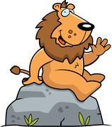 Lion Sitting - stock illustration