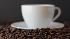 Coffee beans in motion - stock footage