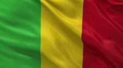 Flag of Mali - seamless loop Stock Footage