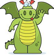 Dragon Waving - stock illustration