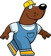 Builder Bear - stock illustration