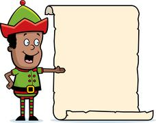 Elf List Stock Illustration
