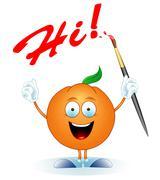 Orange-artist Stock Illustration