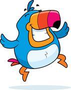 Toucan Jumping - stock illustration