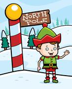 North Pole Elf - stock illustration