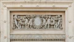 arch carved marble carving - stock photo