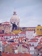 Alfama skyline in lisbon Stock Photos