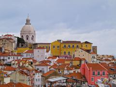 Stock Photo of alfama skyline in lisbon