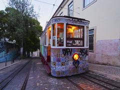 Funicular in lisbon Stock Photos