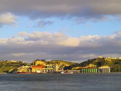 tagus river in lisbon - stock photo