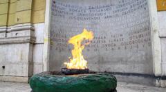Zahvalno Sarajevo (Eternal Flame) Stock Footage