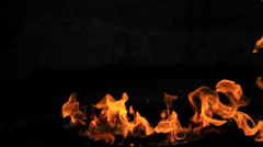 Fire flame isolated on black background. Stock Footage