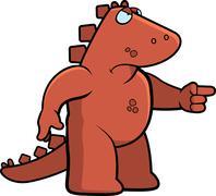 Angry Dinosaur Stock Illustration
