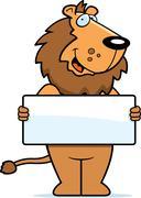 Lion Sign - stock illustration