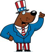 Patriotic Bear - stock illustration