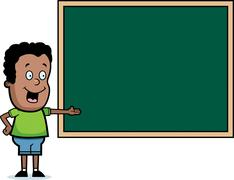 Stock Illustration of Student Chalkboard
