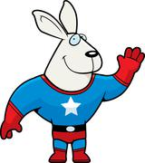 Stock Illustration of Superhero Rabbit