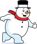 Snowman Walking Stock Illustration