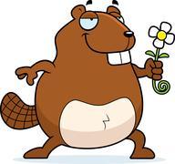 Beaver Flower Stock Illustration