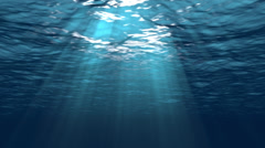 Beautiful Underwater Scene With Sun Rays Seamlessly Looping 4K UHD Stock Footage