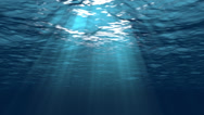 Stock Video Footage of Beautiful Underwater Scene With Sun Rays Seamlessly Looping 4K UHD