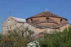 church near venice - stock photo