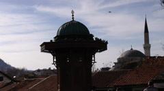 Sarajevo Fountain Sebilj Stock Footage