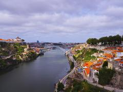 douro river in porto - stock photo