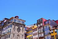 Stock Photo of wall of the ribeira shelters in porto