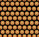 Stock Illustration of elegant seamless pattern with funny scary pumpkins for your design
