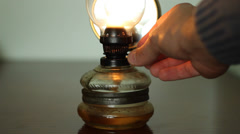 Increase Power of Gas Lantern Stock Footage