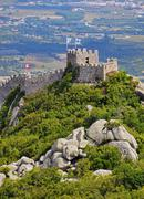 Moorish castle in sintra Stock Photos