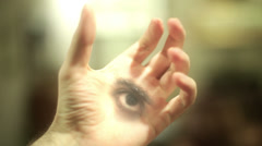 Eye of the future psychic forsight forsee Stock Footage