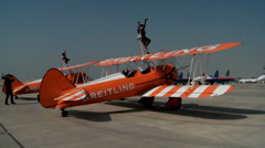 The Breitling Wingwalkers Stock Footage