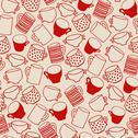 Stock Illustration of Seamless pattern of red cups