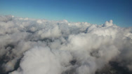 Stock Video Footage of Airplane flying over city and clouds, shot from the window of plane, timelapse