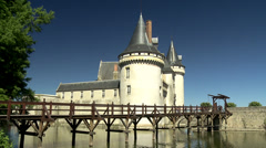 Chateau de Sully-sur-Loire (5) - Sully sur Loire, France Stock Footage
