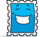 Stamp Smiling Stock Illustration