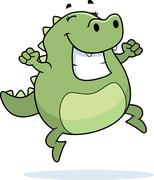 Lizard  Jumping Stock Illustration