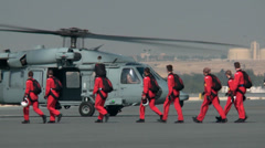 Leaving for their display, The Red Devils and Saudi Falcons Parachute Team Stock Footage