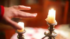 Heat candle dare Stock Footage