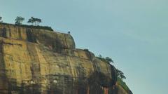 Two people on the mountain Sigiriya. Stock Footage