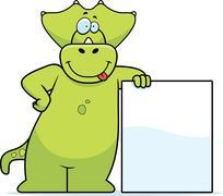 Dinosaur Leaning Stock Illustration