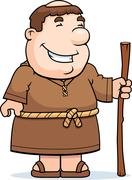 Friar Smiling Stock Illustration