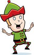 Elf Dancing Stock Illustration