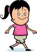 Stock Illustration of Girl Walking